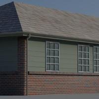 3d model houses building