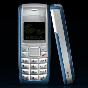 nokia 1110i phone 3d 3ds