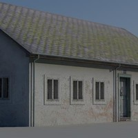 public hall building 3d model