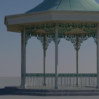 bandstand polygons 3d model