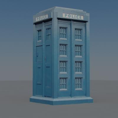 3d police box model