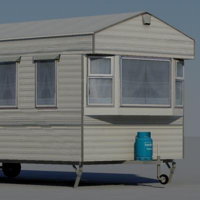 3d model caravan
