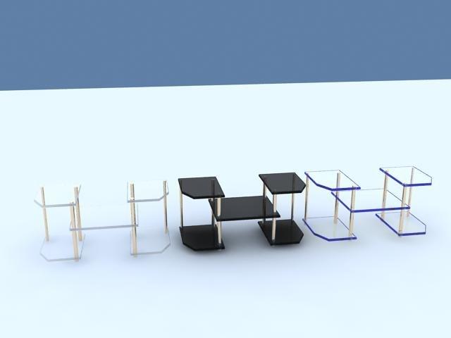 3d shelf 6 materials