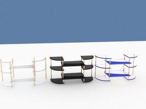 shelf 6 materials 3d model