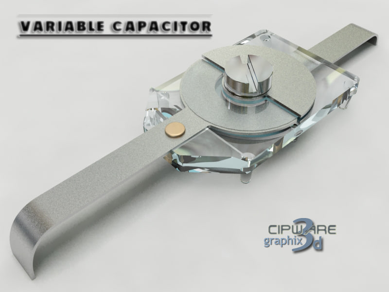 3d model variable capacitor