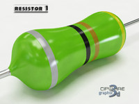 electronic resistor 1 3d model