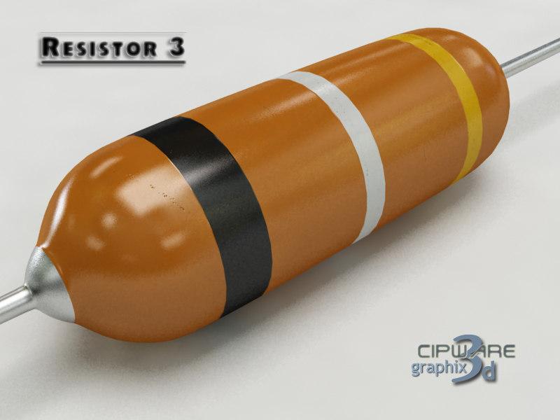 3d resistor 3 model