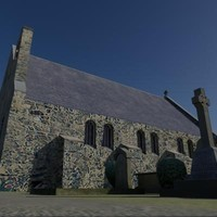 church graveyard building 3d model
