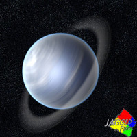 3d uranus space planet model