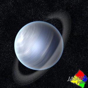 3d uranus space planet model