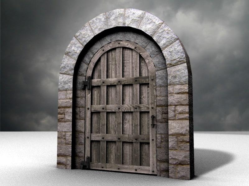 Blender Door Medieval Castles