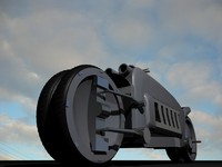 dodge tomahawk motorcycle 3d model