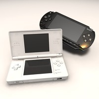 3d playstation portable console ds lite