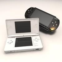 3d playstation portable console ds lite