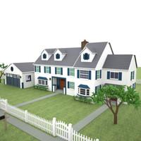 3d house yard model