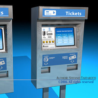 ticket dispenser 3d obj