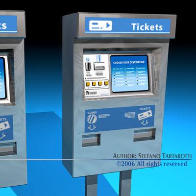 ticket dispenser 3d obj