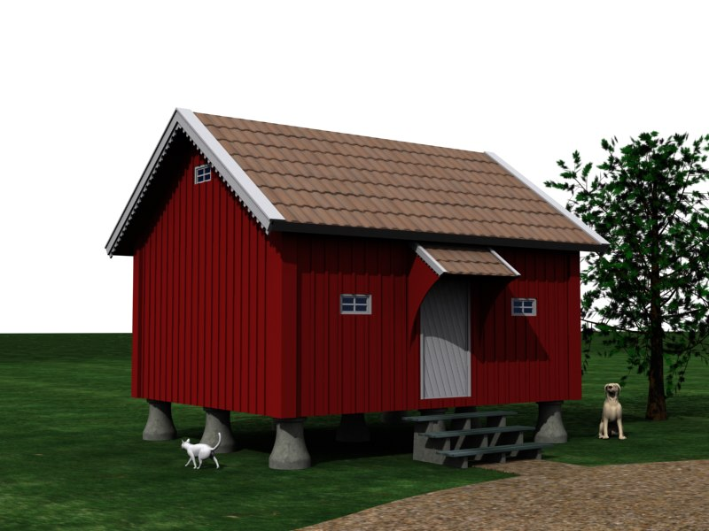 3dsmax stabbur norway farm