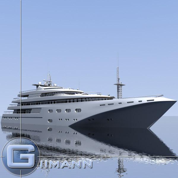 3d boat yacht vessel
