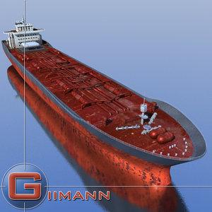 3d model oil tanker