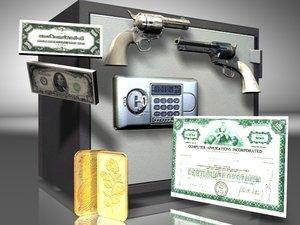 safe guns 3d model