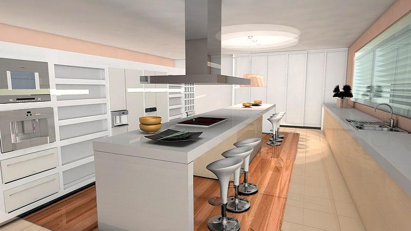 3d c4d interior home