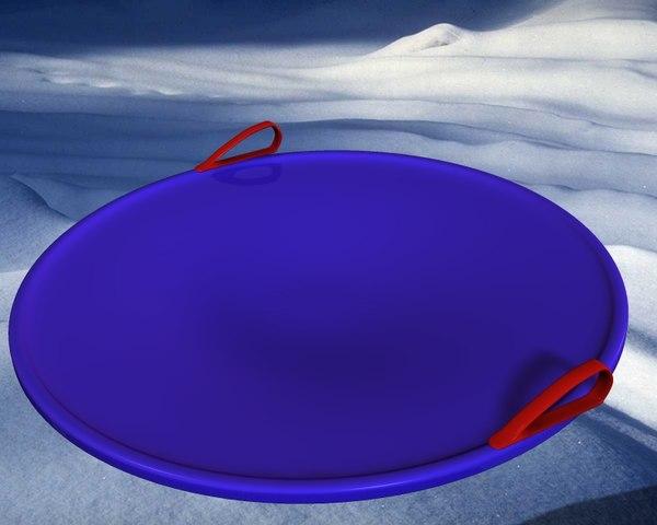 winter saucer sled obj