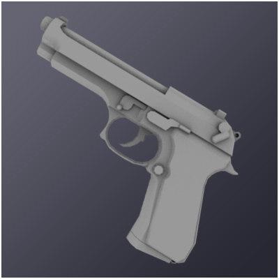 m9f pistol 3d model