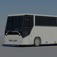bus vehicle 3d model