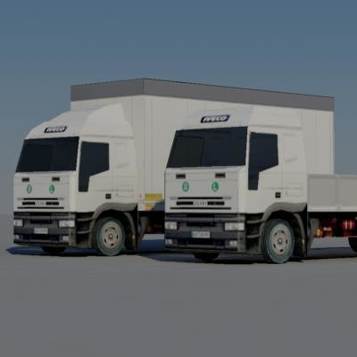3d model trucks lorry vehicle