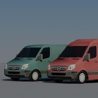 vans vehicle 3d max