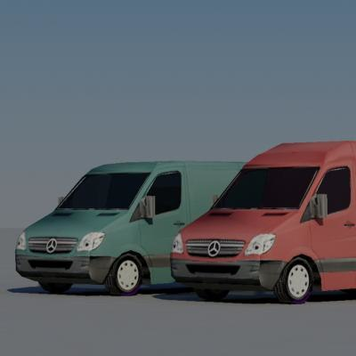 vans vehicle 3d max