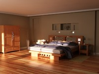 bedroom lighting setup room 3d model