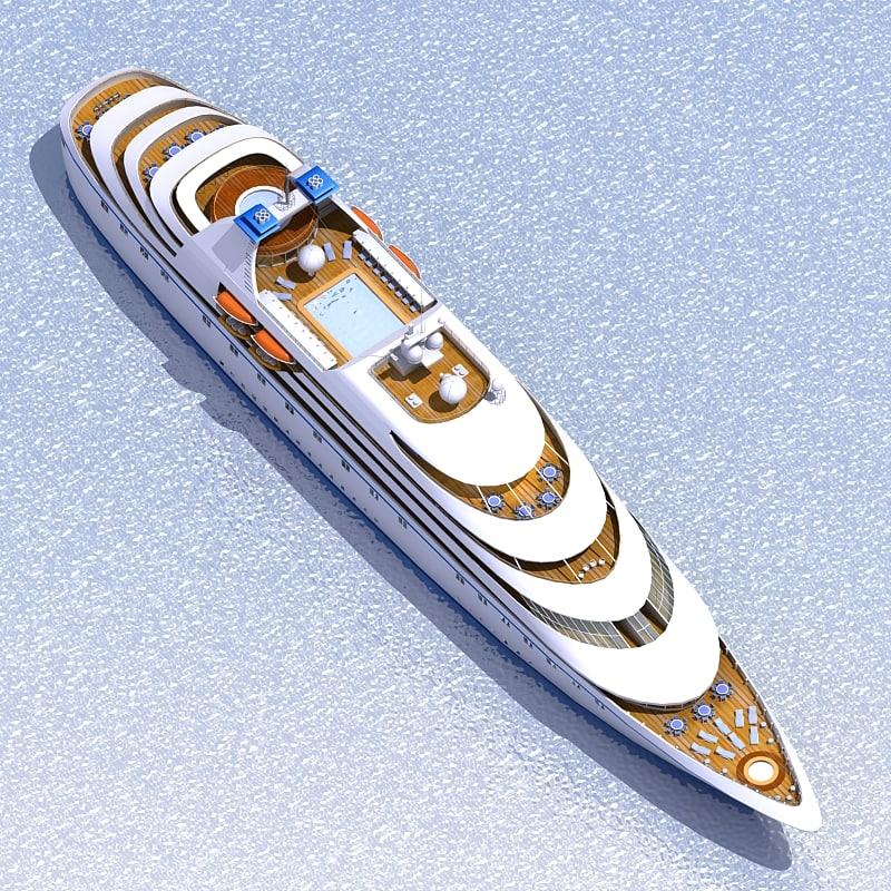 3d model passenger cruise ship