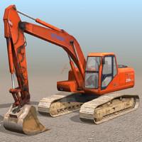 excavator 01 3d 3ds