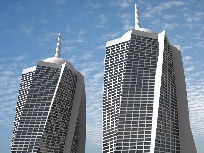 3d max futuristic building 6