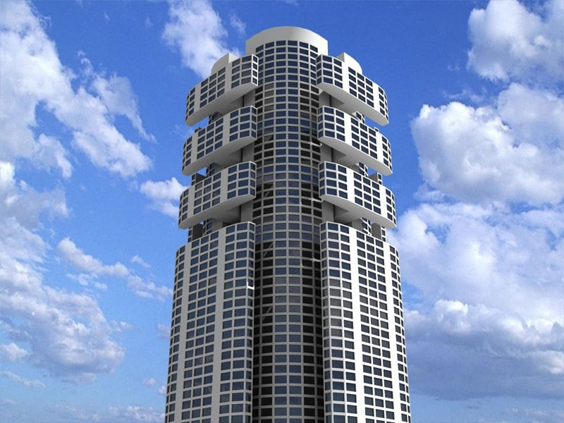 3d model futuristic building 7