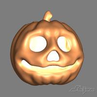 Pumpkin Skull Head