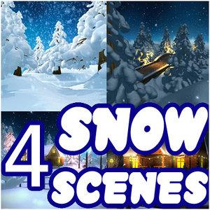 max winter scenes snowman snow