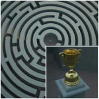 Circular Maze with Trophy Scene