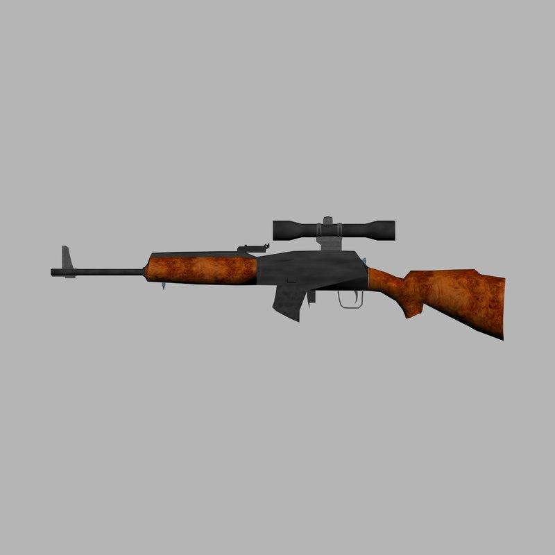 free sniper rifle 3d model
