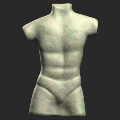 3d model sculpture man