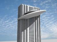 maya futuristic building 8
