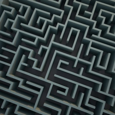 square maze 3d model