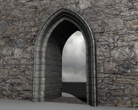 Medieval Gothic Arch 3d model