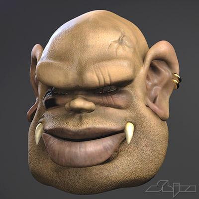goblin face 3d max