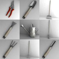 3d garden tools