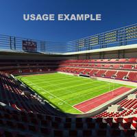 3d football arena