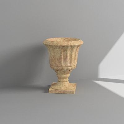 3d model planter vase