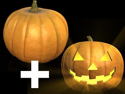 halloween pumpkin c4d